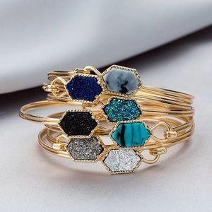 Jewelry - 🍒 NEW! Hexagon Druzy Resin Chain Bracelet